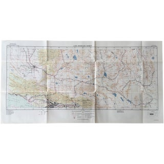 Wwii Era u.s. Army Map - 1939 Los Angeles Sheet