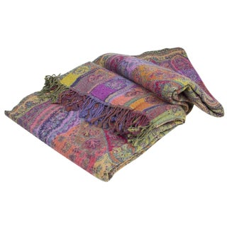 Rainbow Pashmina Jammu Throw