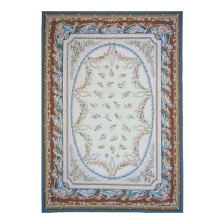 """Pasargad Aubusson Hand Woven Wool Rug - 8' 0"""" x 10' 5"""""""