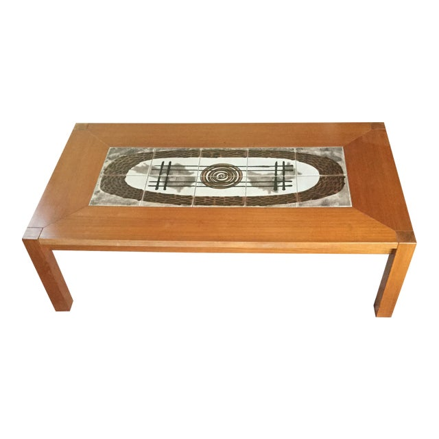Danish Modern Tile Top Coffee Table - Image 1 of 7