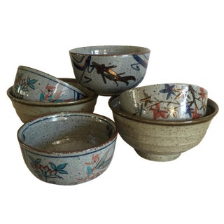 Asian Stoneware Bowls - Set of 6