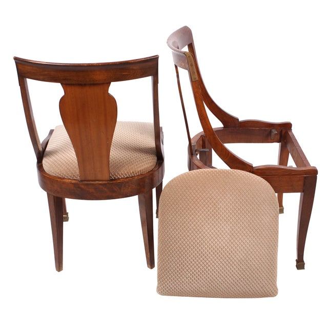 French Directoire Style Chairs - Set of 4 - Image 2 of 4