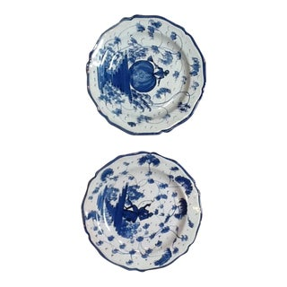 Blue & White Plates - A Pair