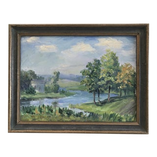 1926 Muskego Lake Landscape Expressionistic Oil Painting