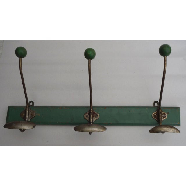 Green French Demilune Coat Rack - Image 2 of 4