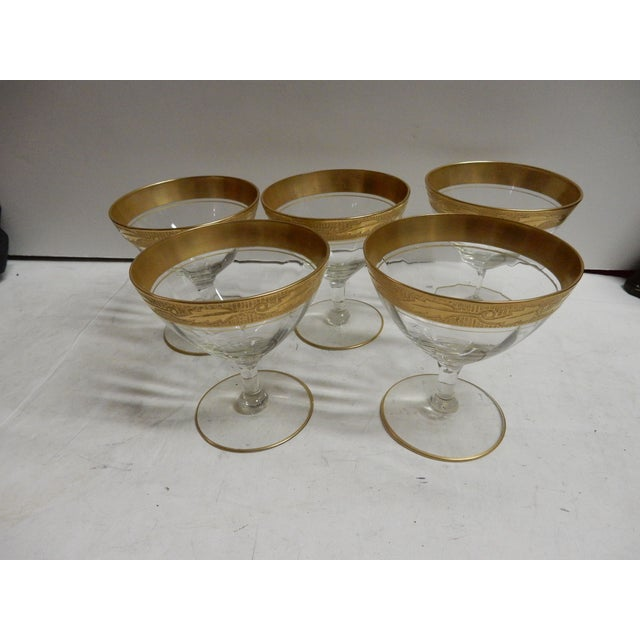 Gold Rimmed Coupes - Set of 5 - Image 2 of 4