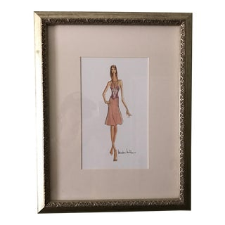 Nicole Miller Framed Fashion Print Lithograph
