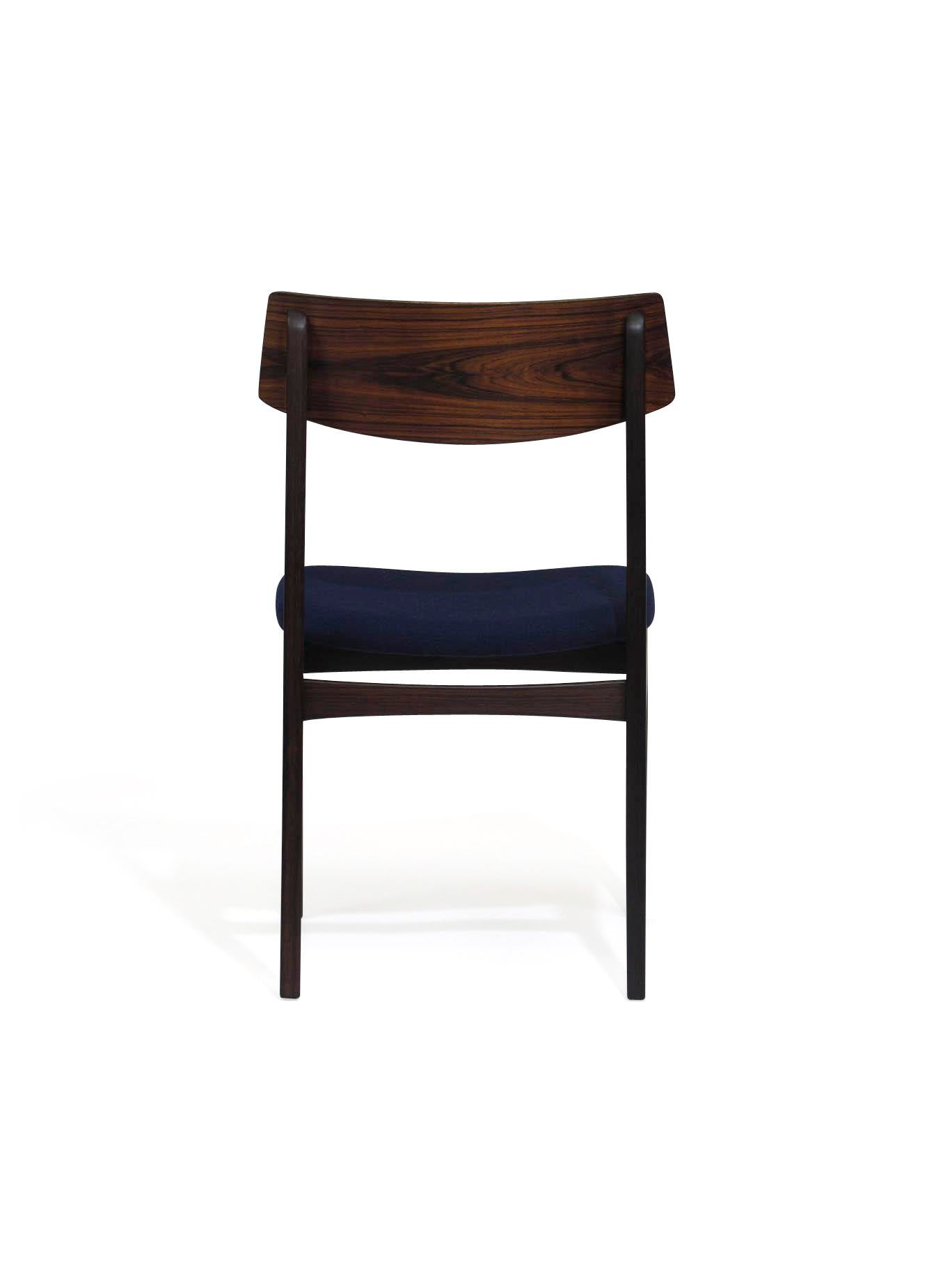 Danish Dining Chair exceptional 4 solid rosewood danish dining chairs | decaso