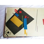 Image of Vintage 1960s Abstract Geometric Oil Painting