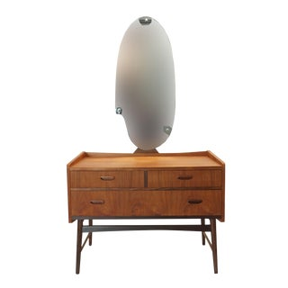 Danish Teak Vanity with Icon Mirror