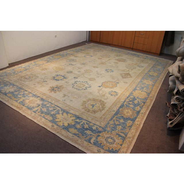 Turkish Anatolia Oushak Area Rug - 10' X 14' - Image 3 of 9
