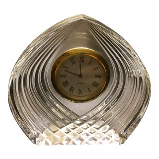 Czech Bohemian Crystal Mantle Clock