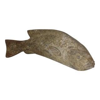Vintage Pottery Fish Sculpture
