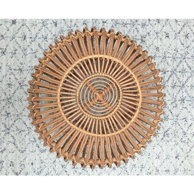Franco Albini Rattan Wicker Woven Ottoman - Image 3 of 10