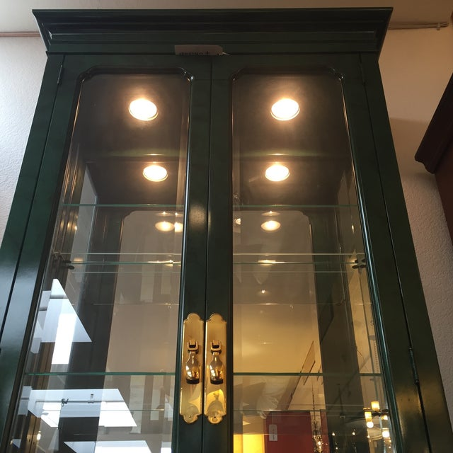 Emerald Curio Cabinet by American of Martinsville - Image 3 of 11