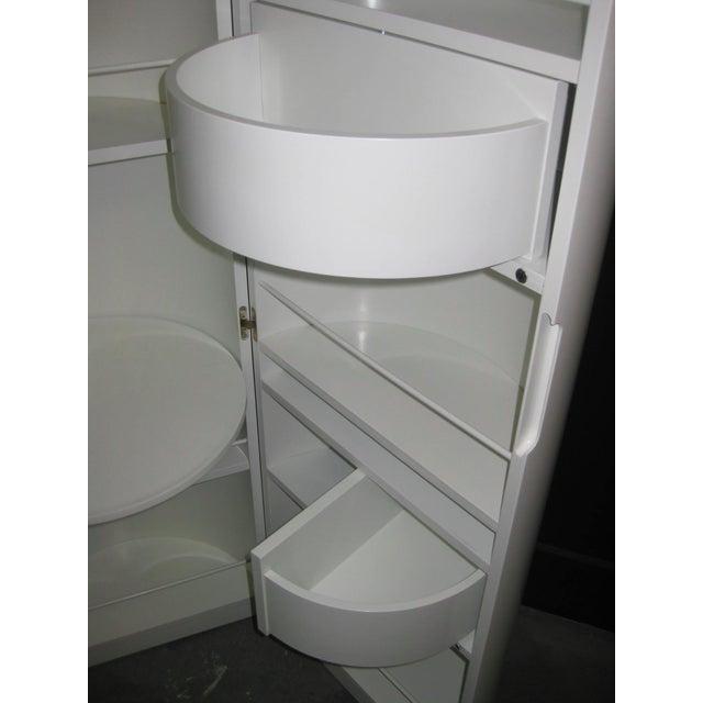 White Lacquer Cylindrical Folding Bar - Image 10 of 10