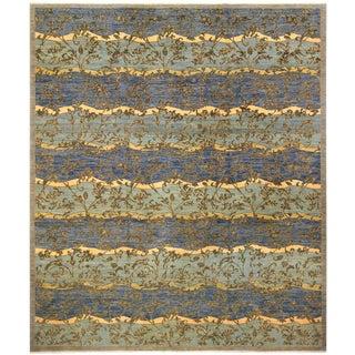 Kafkaz Peshawar Light Blue Wool Rug - 12'0 X 14'8