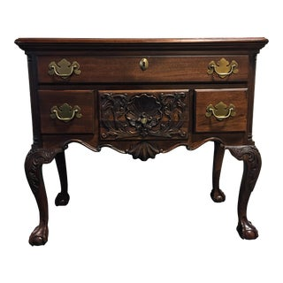 Wellington Hall Mahogany Chippendale Style Low Boy Chest