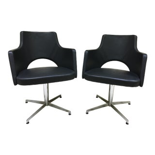 Lammhults Cortina Star Base Swivel Chairs - a Pair