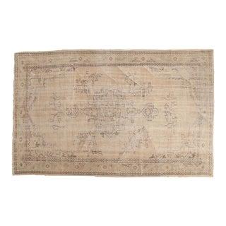 "Vintage Oushak Carpet - 6' x 9'4"""
