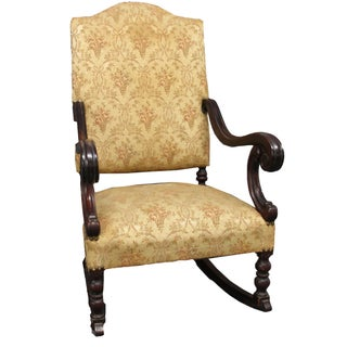 French Louis XV Rocking Fauteuil Armchair