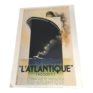"French Advertising L'Atlantic"" Print"