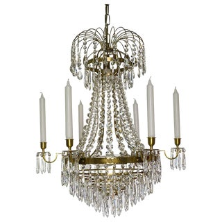 Empire 6 Cognac Drop Chandelier