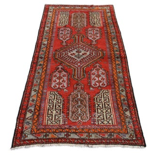 "Semi-Antique Russian Kazak Rug - 4'2""x7'8"""
