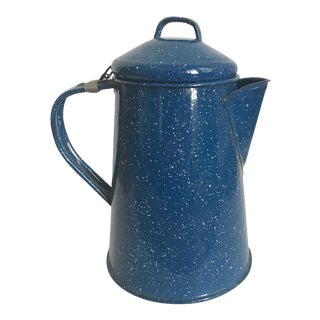 Vintage Blue Metal Pitcher