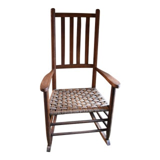 Woven Seat Wood Rocking Chair