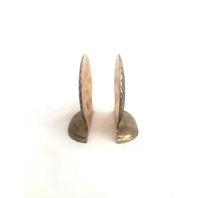 Brass Shell Bookends - Pair - Image 5 of 6
