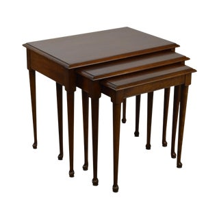 Pennsylvania House Solid Cherry Queen Anne Nesting Stack Tables