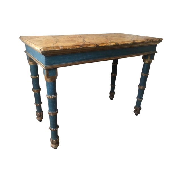 18th century italian painted table chairish for Table th width