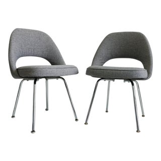 Eero Saarinen Executive Armless Chairs - A Pair