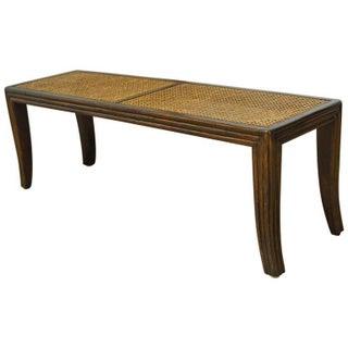 McGuire Caned Mahogany Bench