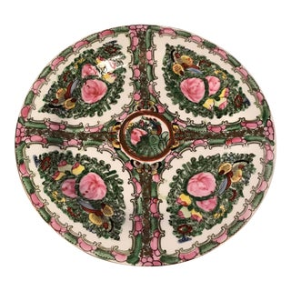 Hand Painted Floral Asian Decorative Plate