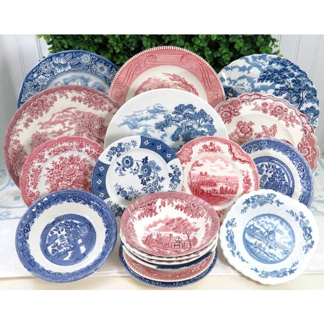 Mismatched Ironstone China Set, Service for 6 - Image 2 of 11