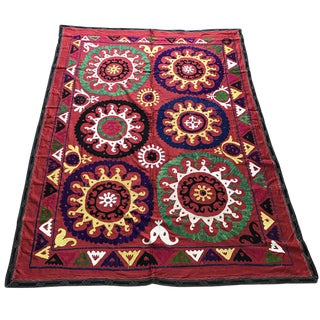 Vintage Suzani Bed Cover