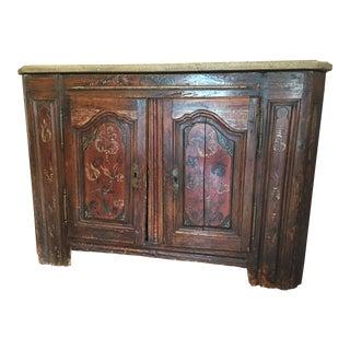Antique Italian Console Cabinet