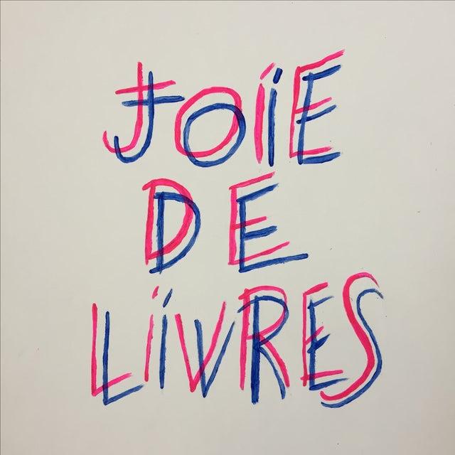 """Joie De Livres"" Modern Print - Image 3 of 5"