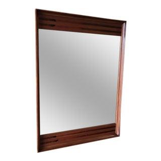 Stanley Mid-Century Walnut & Rosewood Mirror