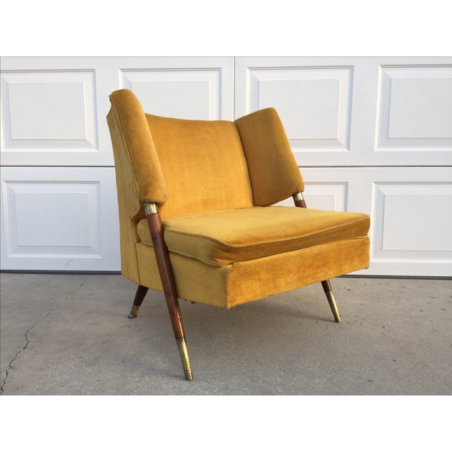 Mid Century Yellow Floating Lounge Chair - Image 2 of 11
