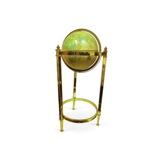 Vintage Globe on Brass Stand