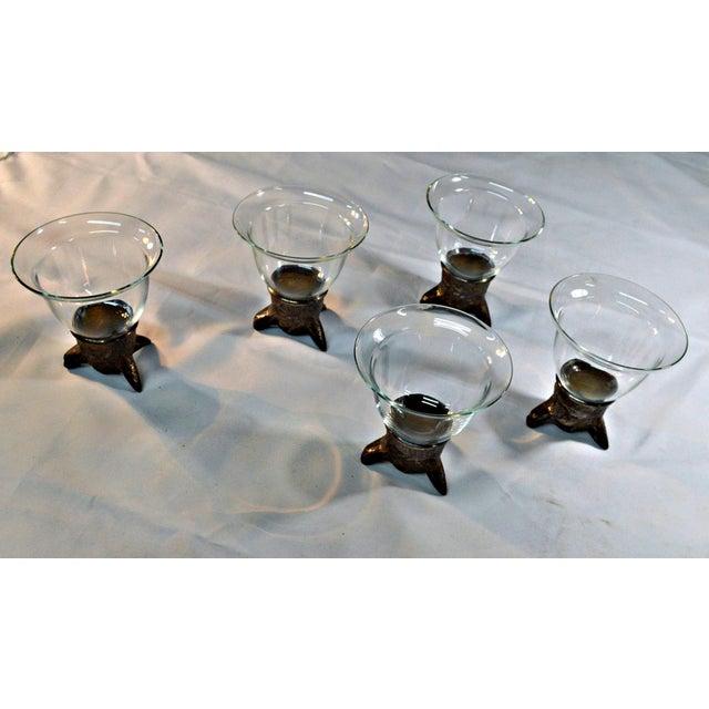 Wolf Head Stirrup Goblets - Set of 5 - Image 9 of 10