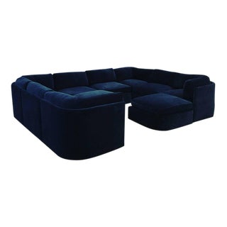 Mid Century Modern / Contemporary 10 pc Thayer Coggin Sectional in Cotton Velvet