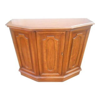 Vintage Cherry Demi Lune Foyer Accent Storage Console
