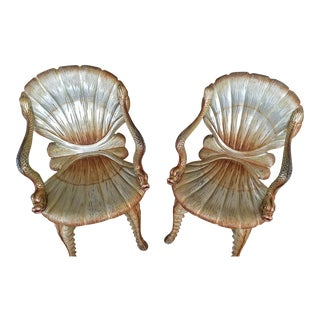 Venetian Grotto Chairs - A Pair