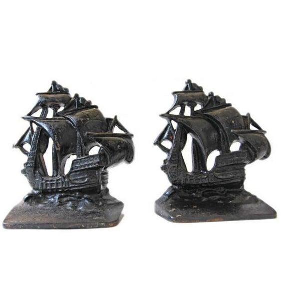 Vintage nautical iron ship bookends pair chairish