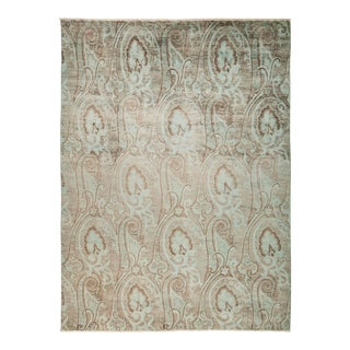 """Ikat Hand Knotted Area Rug - 7' 10"""" X 10' 6"""""""