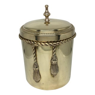 Vintage Brass Jar With Lid and Tassel Detail